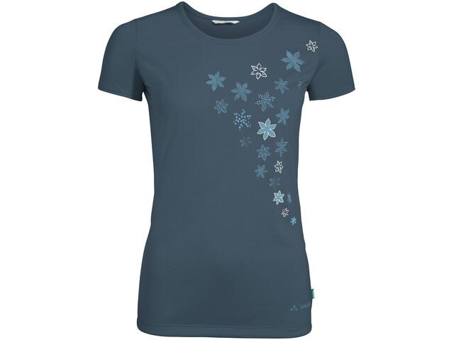VAUDE Skomer Print Camiseta Mujer, steelblue